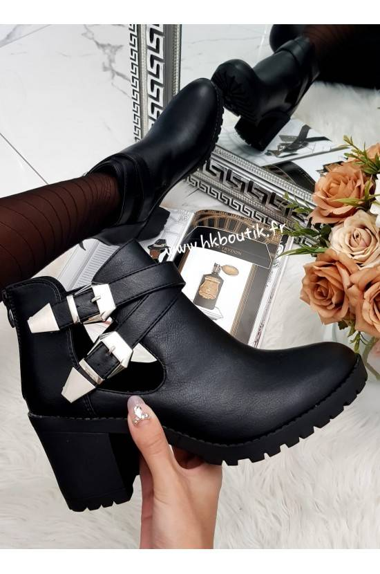 Bottines black talons 8207