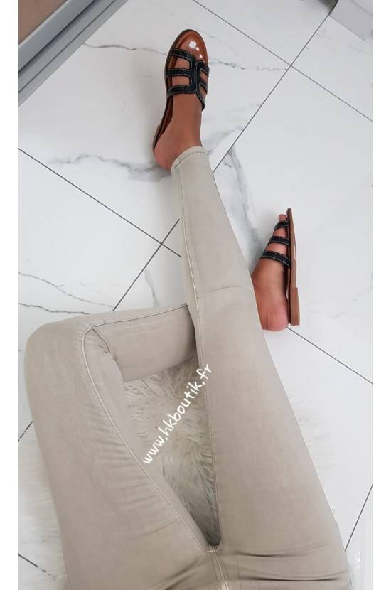 Pantalon beige stretch H619-56
