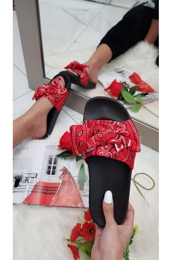 Sandales noeud imprimées...