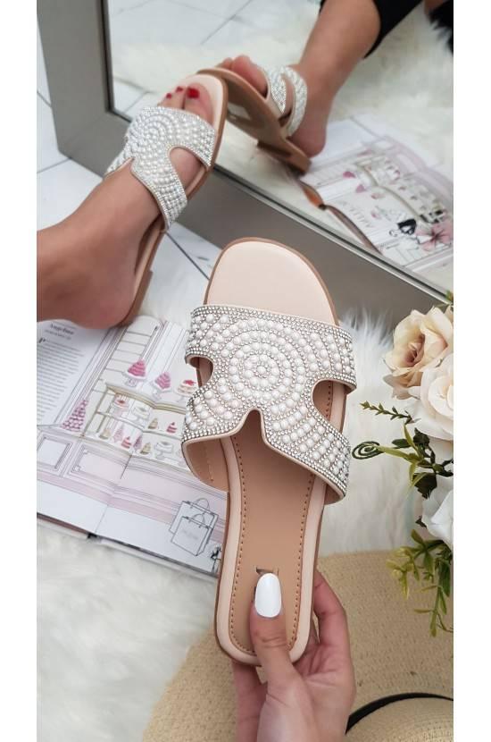 Sandales perles NUDE Emy