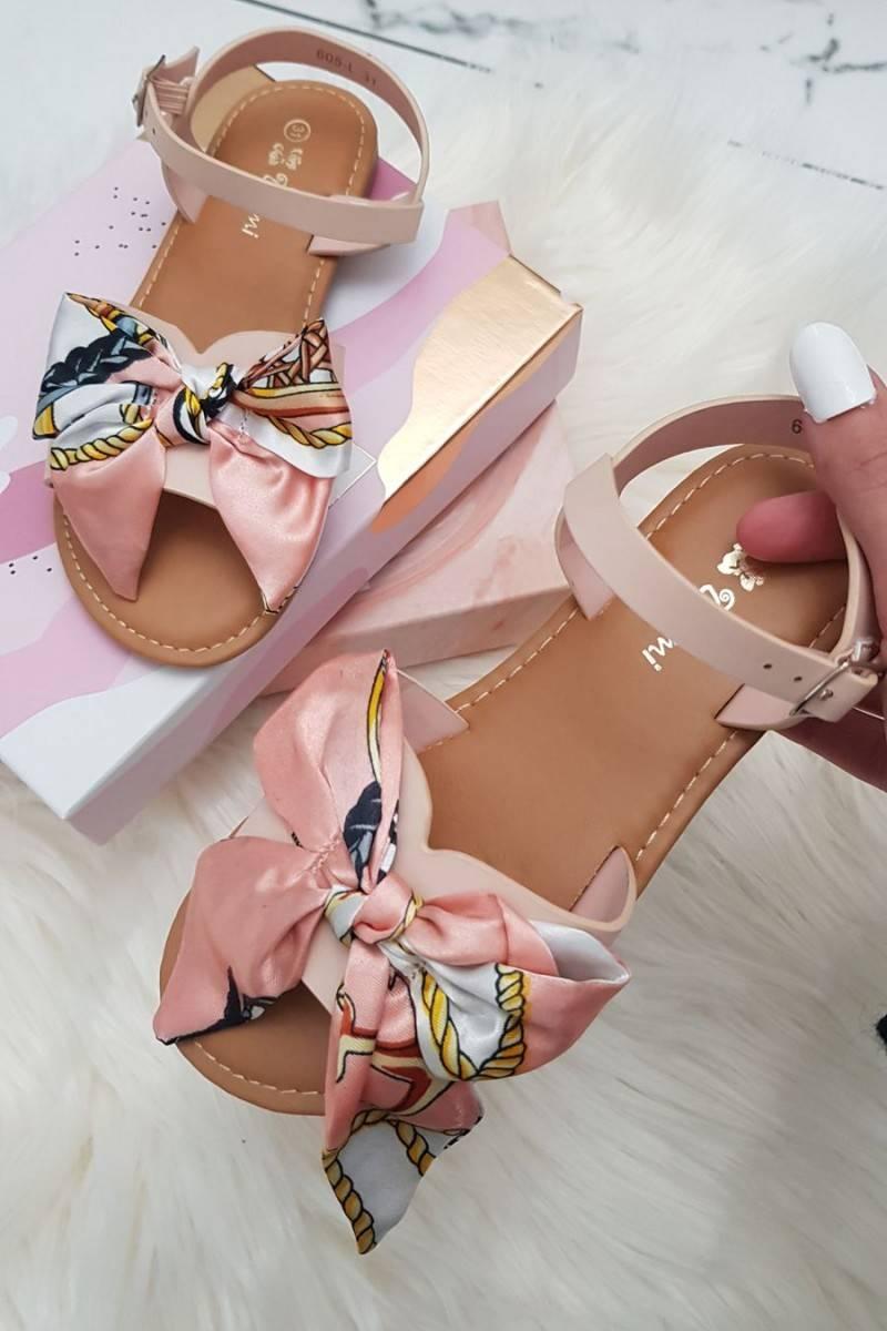 Sandales noeud rose enfant 605-L
