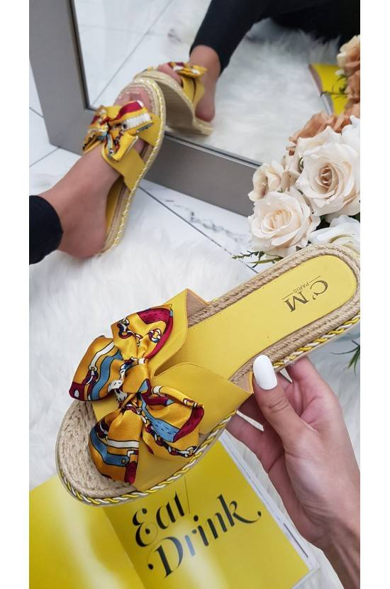 Sandales noeud satinée YELLOW KIM