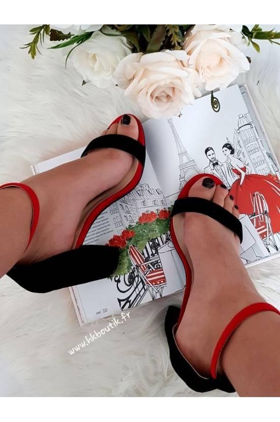 Talons noir et rouge 0280-135