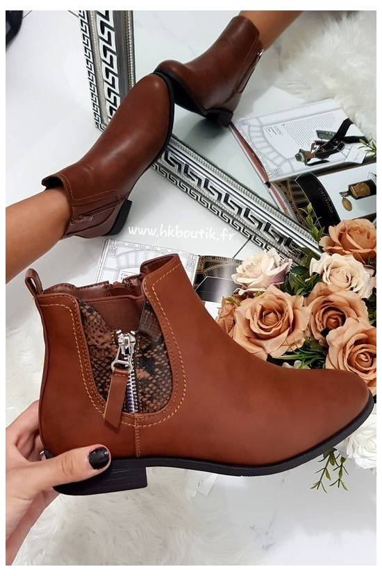Bottines Camel serpent 688-A38