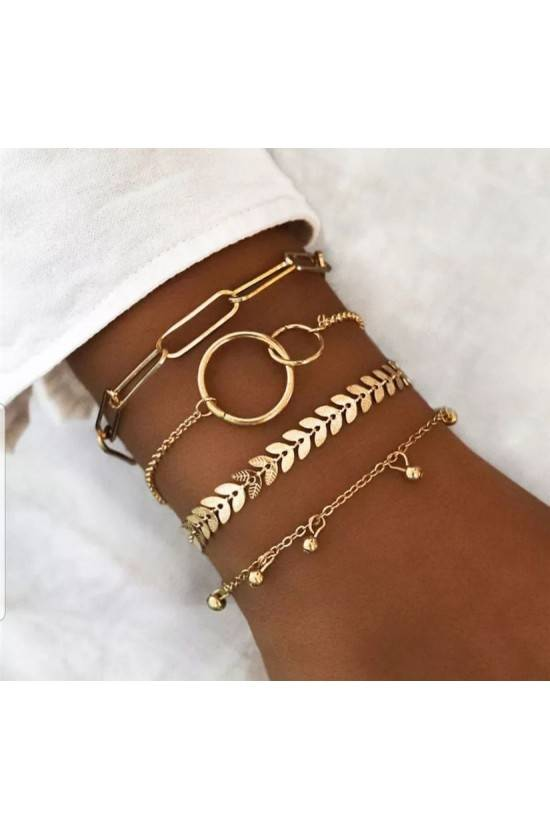 Lot de 4 bracets gold