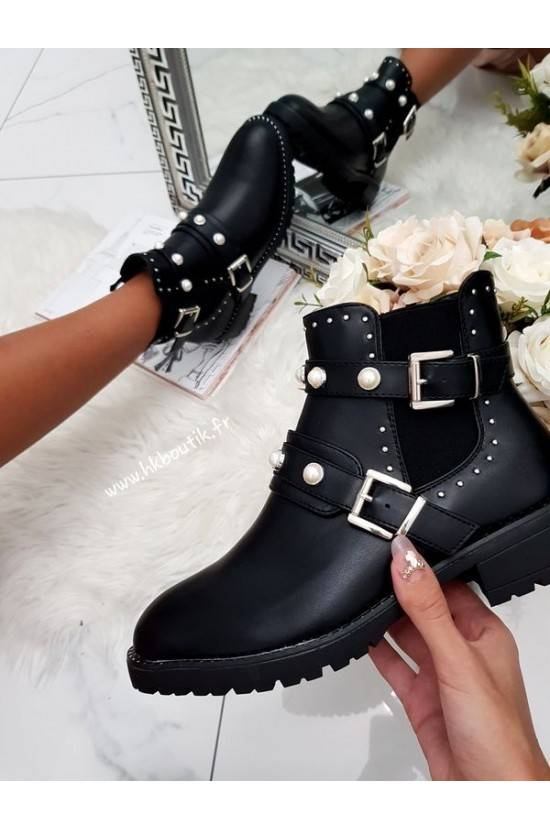 Bottines perles black 688-248