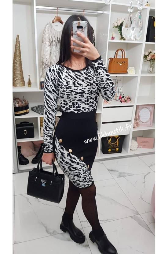 Robe brillante ZEBRA