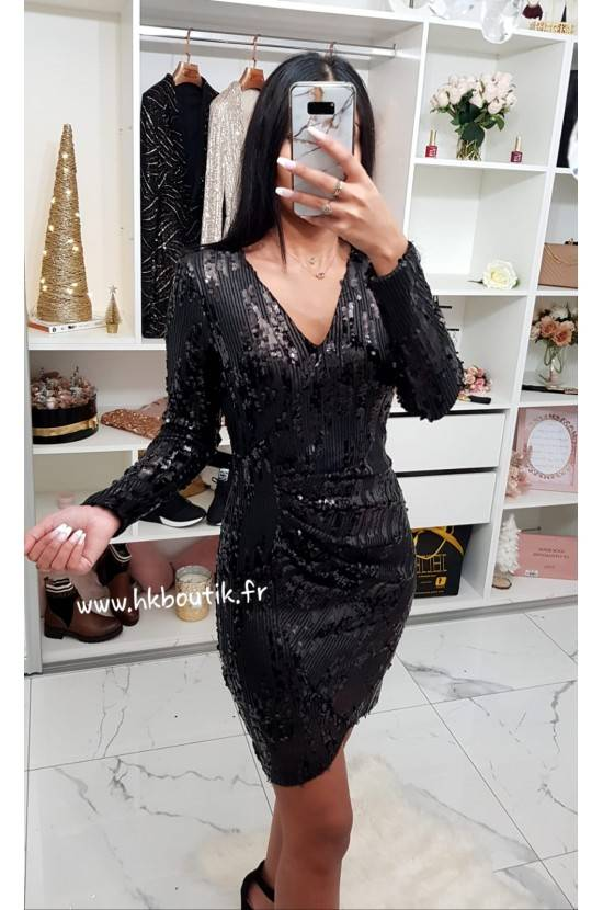 Robe brillante sequins Lina